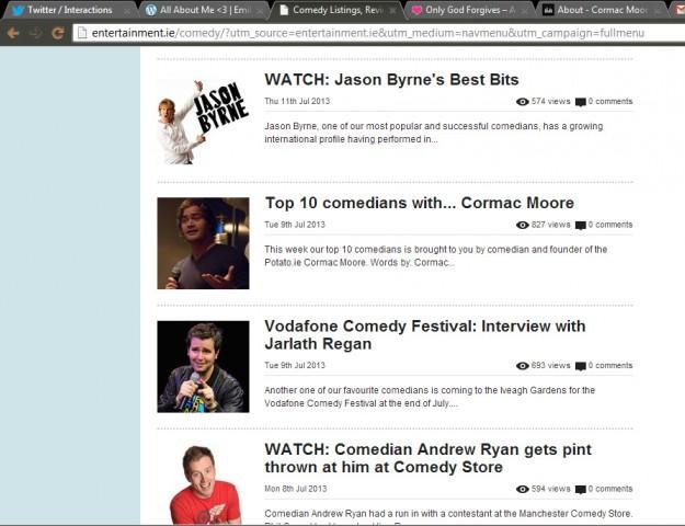 Cormac Moore entertainment.ie